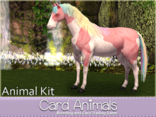[Card Animals]  Breedable Animesh Horse (Animal Kit) - Breeding, Racing and Card Trading Game - No food or rez needed.