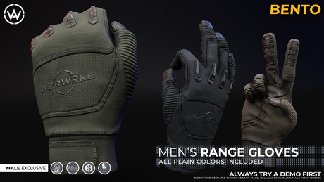 [WAZ] Tactical Range Gloves (Plain Pack)