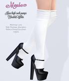 Mouse * Knee high sock pumps * Black&White