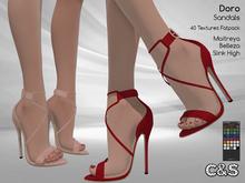 PROMO - C&S Doro Heels for Maitreya Lara, Slink High and Belleza. 40 Text. HUD.