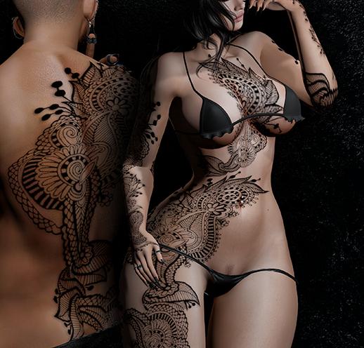 Black Sea Unisex Tattoo - Black, single colour, Maitreya, Legacy, INTHIUM KUPRA, Belleza, Signature, Omega, BOM - Vezzo