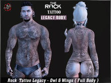 Rock Tattoo Legacy - Owl Wings  ( Full Body )