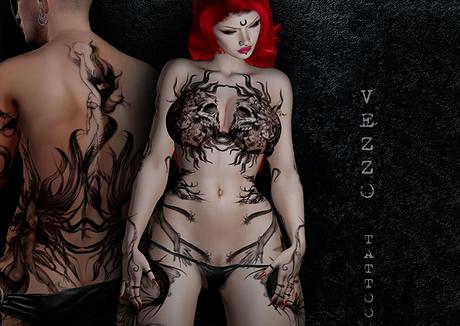 Sirens Unisex Sea Tattoo - Black colour, Maitreya, Legacy, INTHIUM KUPRA, Belleza, Signature, Omega, BOM - Vezzo Ink