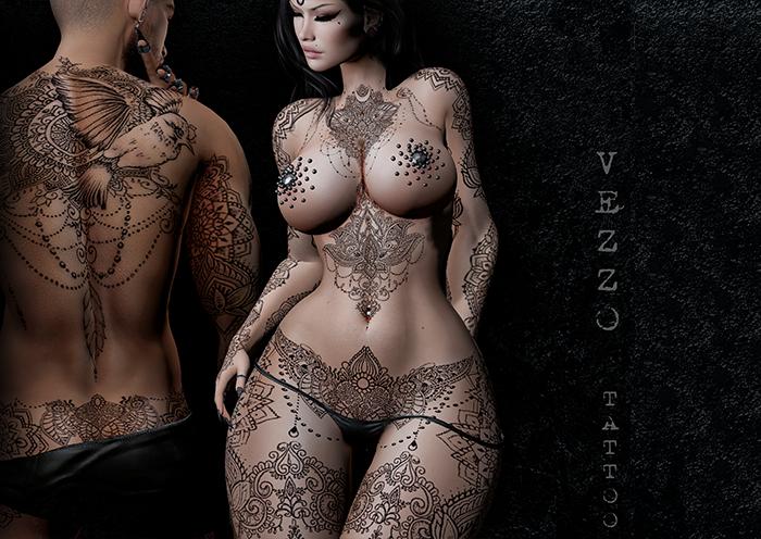 Zanett Tattoo - Black, single colour, Maitreya, Legacy, INTHIUM KUPRA, Belleza, Signature, Omega, BOM - Vezzo Ink