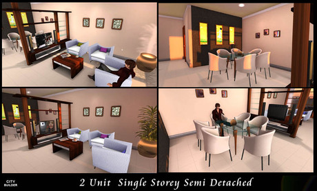 Second Life Marketplace Single Story Semi Detached House Duplex House
