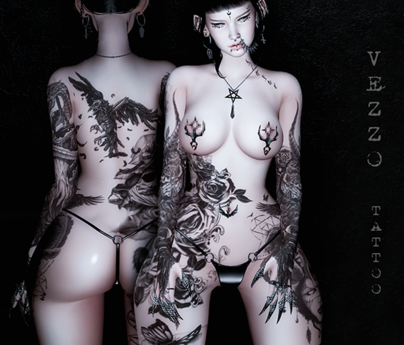 Sinful Unisex Tattoo - Black, single colour, Maitreya, Legacy, INTHIUM KUPRA, Belleza, Signature, Omega, BOM - Vezzo Ink