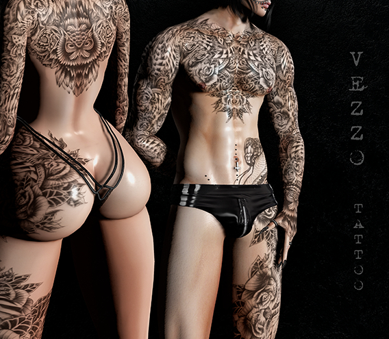 Zian Warrior Tattoo - Black Colour, Unisex - Maitreya, Legacy, INTHIUM KUPRA, Belleza, Signature, Omega, BOM - Vezzo Ink