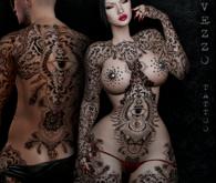 Ain Unisex - Feather Eye Tattoo, Black colour, Maitreya, Legacy, KUPRA, Belleza, Signature, Omega, BOM - Vezzo Ink