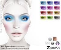 Zibska ~ Atifi Eyemakeup colors with Lelutka, Catwa, LAQ, Omega appliers and tattoo & universal tattoo BOM
