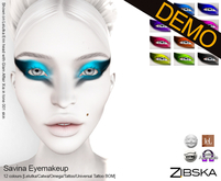 Zibska ~ Savina Eyemakeup Demo [Lelutka/Catwa/Omega/tattoo/universal tattoo BOM]