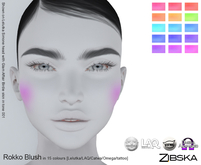 Zibska ~ Rokko Blush in 15 colors with Lelutka, LAQ, Catwa, Omega appliers and system tattoo layers