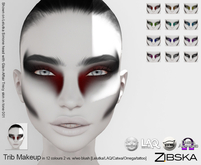 Zibska ~ Trib Makeup in 12 colors with 2 versions (with and without blush) with Lelutka, LAQ, Catwa, Omega and tattoos