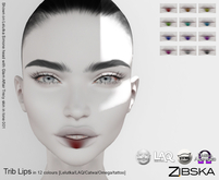 Zibska ~ Trib Lips in 12 colors with Lelutka, LAQ, Catwa, Omega appliers and tattoo BOM layers.