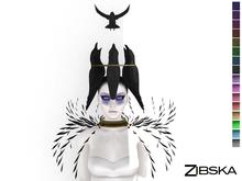 Zibska ~ Rok color change headpiece in top & crown sections, collar and shoulders left & right