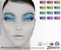 Zibska ~ Marzena Eyemakeup in 12 colors with Lelutka, LAQ, Catwa, Omega appliers and system tattoo layers