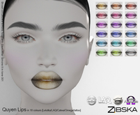 Zibska ~ Quyen Lips in 18 colors with Lelutka, LAQ, Catwa, Omega appliers and system tattoo layers