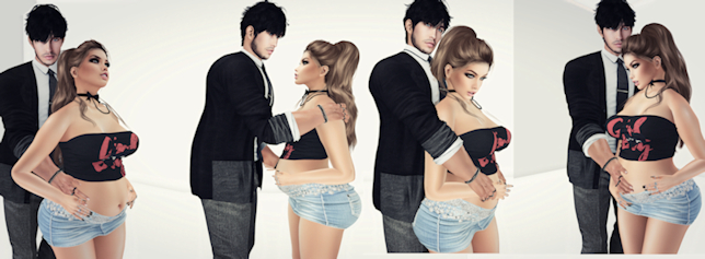 -Alli Poses -  We're Pregnant ( Pack){wear}