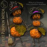 99L$ PROMOTION***ArisArisB&W~Rupert Pumpkin Witch - HALLOWEEN AVATAR