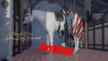 Cheval D'or / TeeglePet Arabian / Silk Flag Blanket. (Boxed)