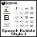 *TNB* Speech Bubbles Style 1 - Add to Unpack