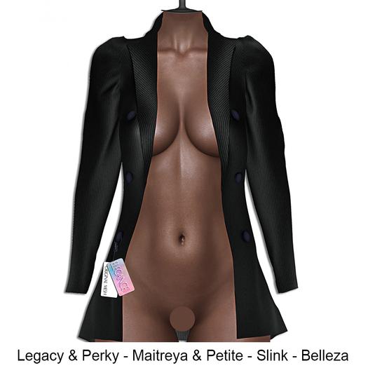 "Elegance Boutique -"" Tiara""- Jacket  - Black - KUPRA -  Legacy & Perky / Maitreya & Petite / Belleza /Slink"