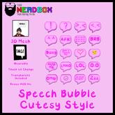 *TNB* Speech Bubbles Cutesy Style - Add to Unpack