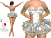 ~PP~ Sequined Ballerina Set - Ivory Gold