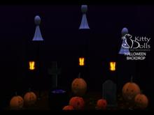 K.D Halloween Backdrop - Wear me/Touch me