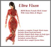 Ultra Vixen - Busty - BOM Bento Female Mesh Avatar - Asian Skins & Shapes