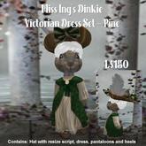 Miss Ing's Dinkie Sleeveless Victorian Dress Set Pine Boxed