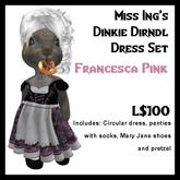 Miss Ing's Dinkie Dirndl Dress Set Francesca Pink