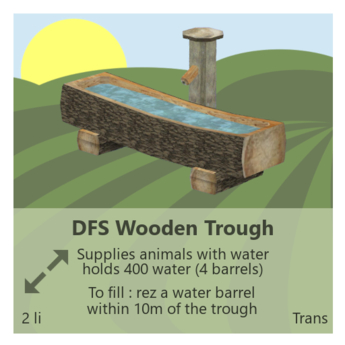 DFS Wooden Trough