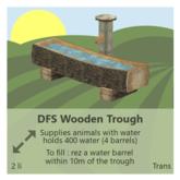 DFS Wooden Trough