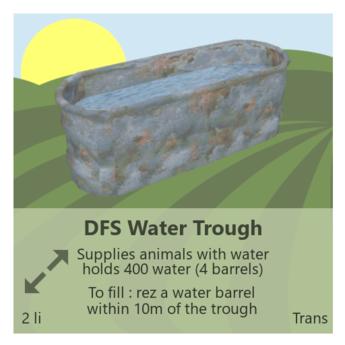 DFS Water Trough