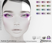 Zibska ~ Aubree Eyemakeup in 12 colors with Lelutka, LAQ, Catwa and Omega appliers and tattoo BOM layers