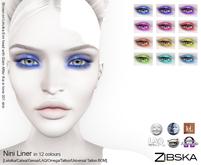 Zibska ~ Nini Liner in 12 colors with Lelutka, Genus, LAQ, Catwa and Omega appliers, tattoo & universal tattoo