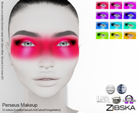 Zibska ~ Perseus Makeup in 12 colors with Lelutka, Genus, LAQ, Catwa and Omega appliers and tattoo layers