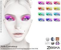 Zibska ~ Aoife Eyemakeup in 12 colors with Lelutka, Genus, LAQ, Catwa and Omega, tattoo & universal tattoo BOM