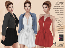 PROMO - ST :: Suzy Outfit for Maitreya Lara, Slink, Belleza, Tonic, Voluptuous and Classic. 18 Tex HUD. Mix & Match