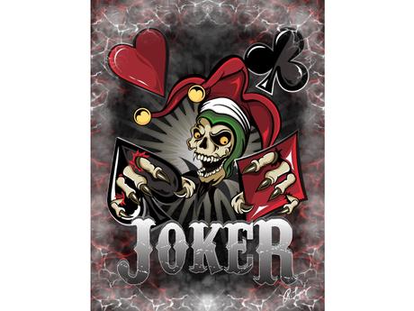 Joker Poker Skull Canvas