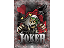 Joker Poker Skull Canvas