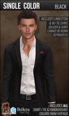 {COLD-ASH} Mens ALESSIO Suit Blazer & Shirt (Single-Black)
