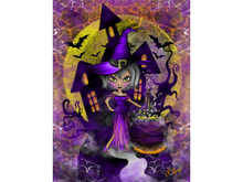 Wisdom Witch Art Canvas