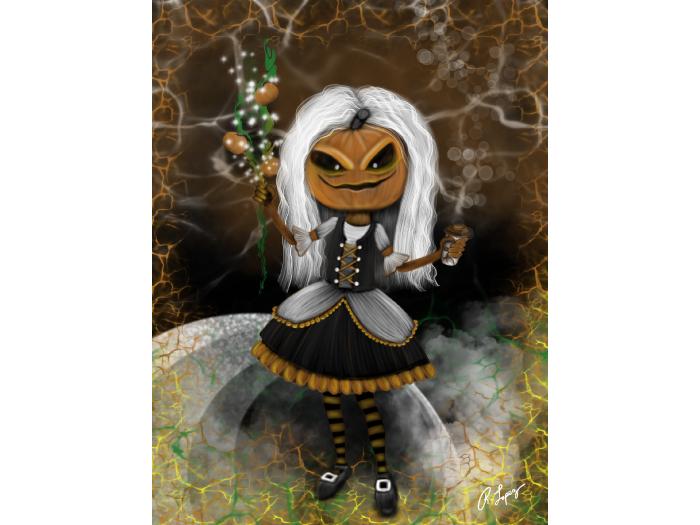 Pumpkin Maid Art Canvas