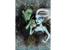 Frankenstein Art Canvas