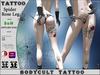 HALLOWEEN - BodyCult Tattoo Spider Rose LEG LG1110