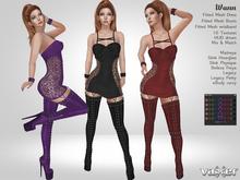 PROMO - Vaxer : Wann Outfit - Maitreya, Slink, Belleza, eBody, Legacy. 10 Text. Mix & Match