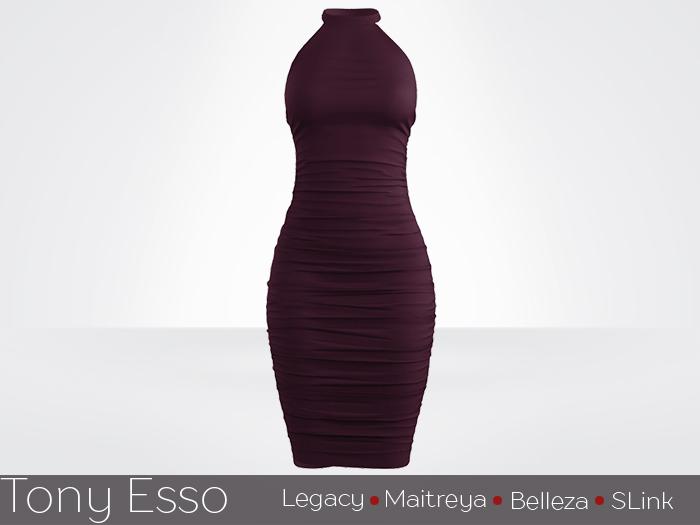 Tony Esso - Aria Dress (Wine)