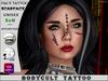 HALLOWEEN - BodyCult Tattoo Face Scarface FA1072