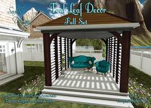 ~Sadie's Deisgn~ Teal Leaf Outdoor Set ~ Full Set